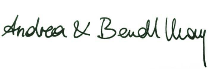 Unterschrift Andrea & Berndt May